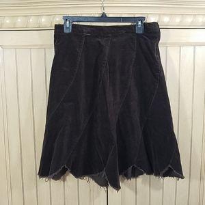 Charlotte Russe Brown Corduroy Skirt, sz Medium
